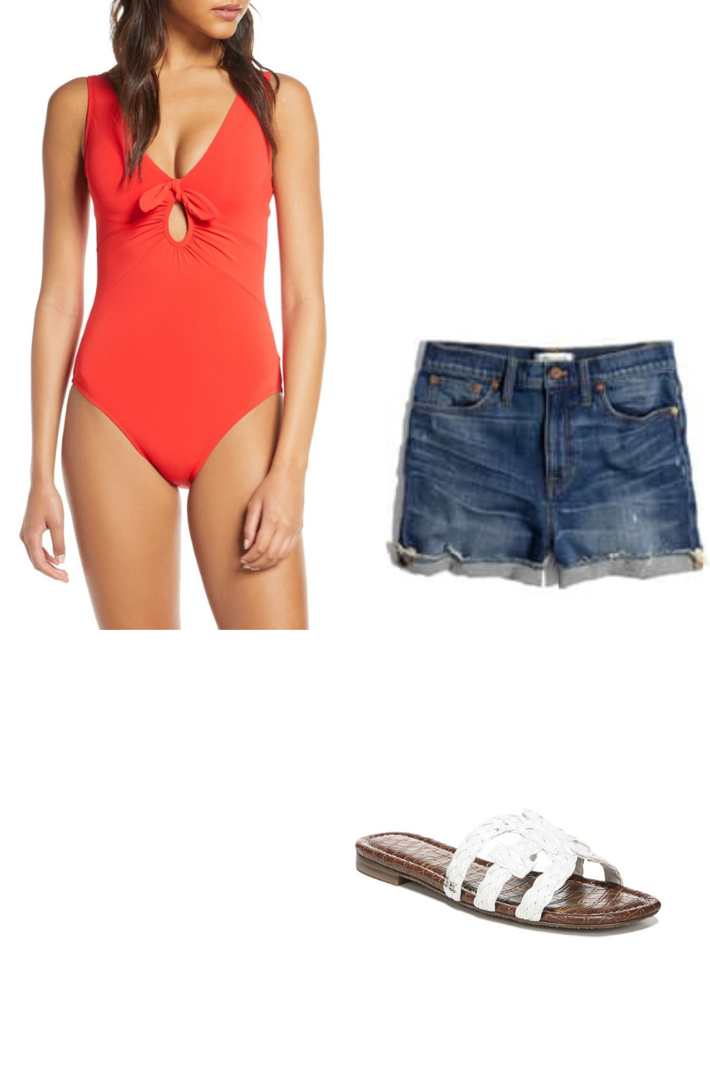 4th of july outfit red bodysuit