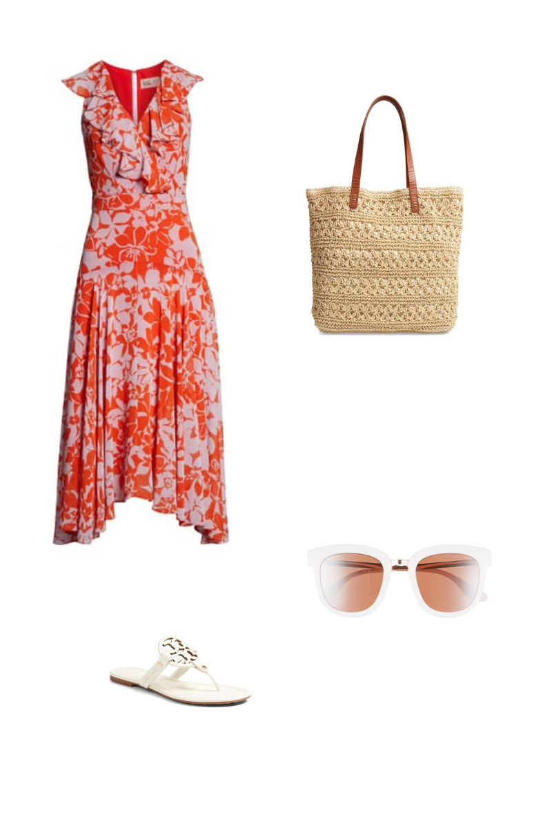 floral maxi dress summer outfit