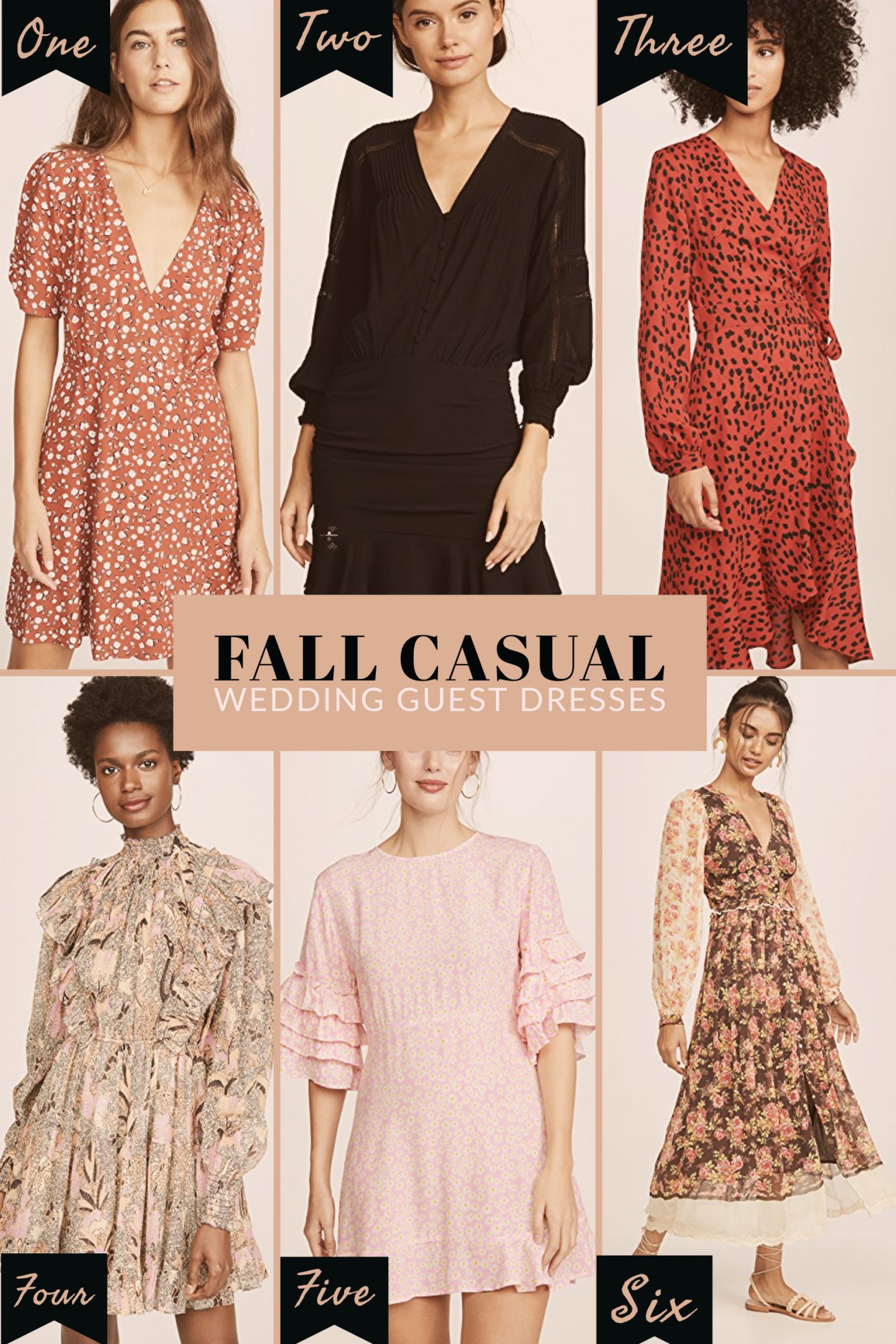 fall wedding guest causal dresses