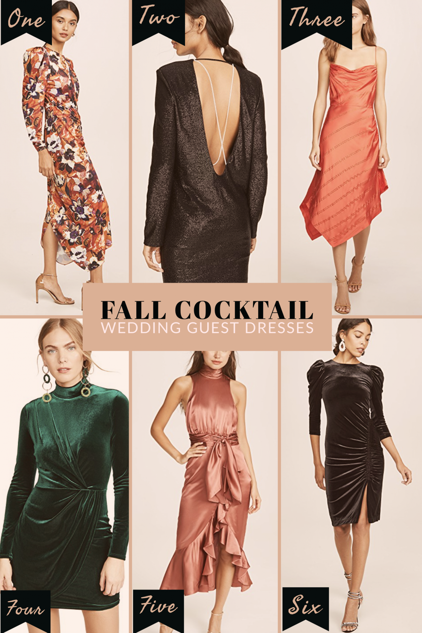 Fall wedding guest cocktail dresses