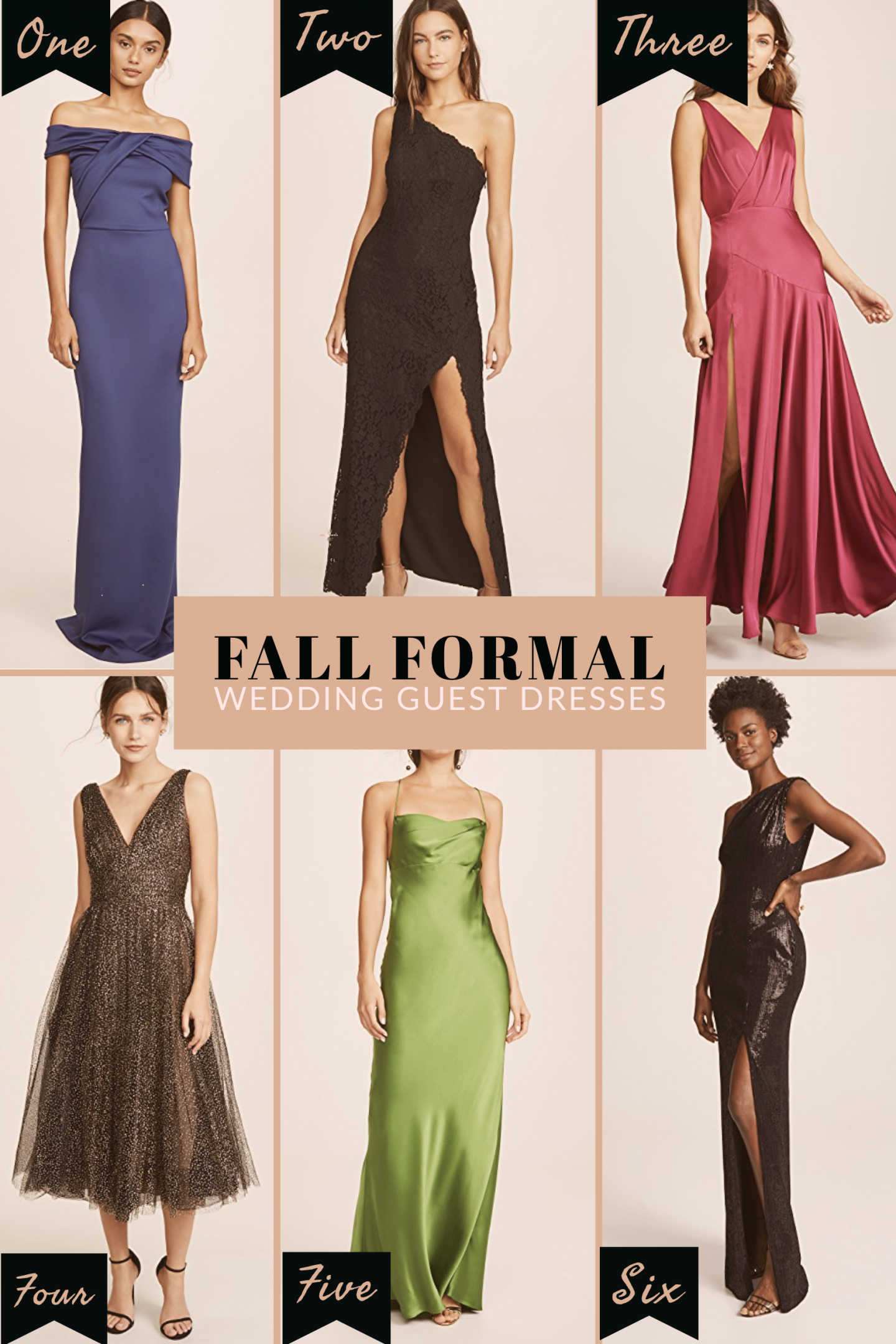 fall wedding guest formal dress