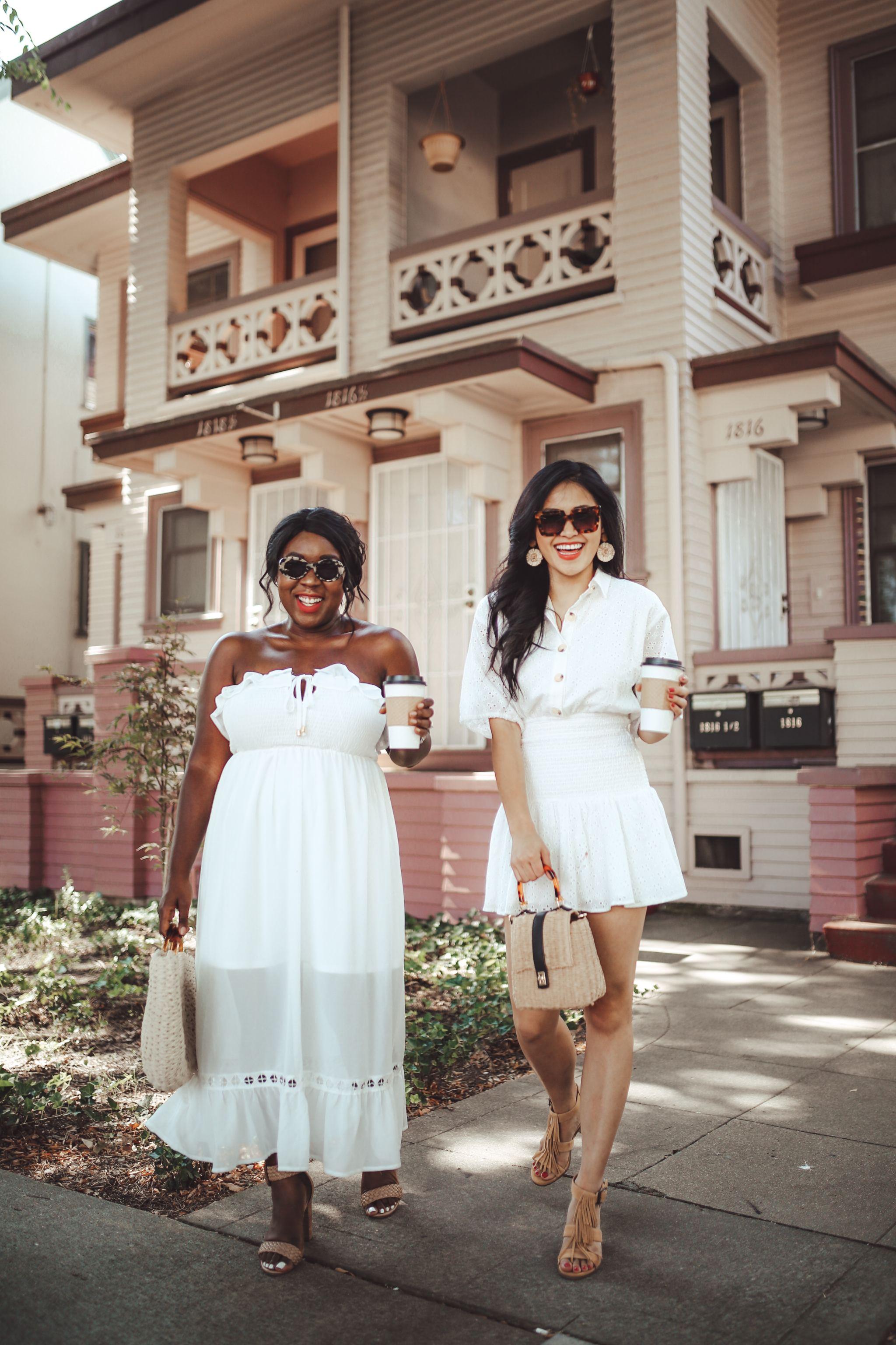 """alt=""""piecesofemerald.com womens white dress womens white maxi dress downtown sacramento photo"""""""