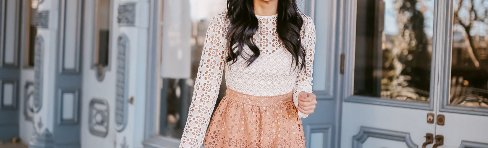 2 Ways to Style a Lace Dress