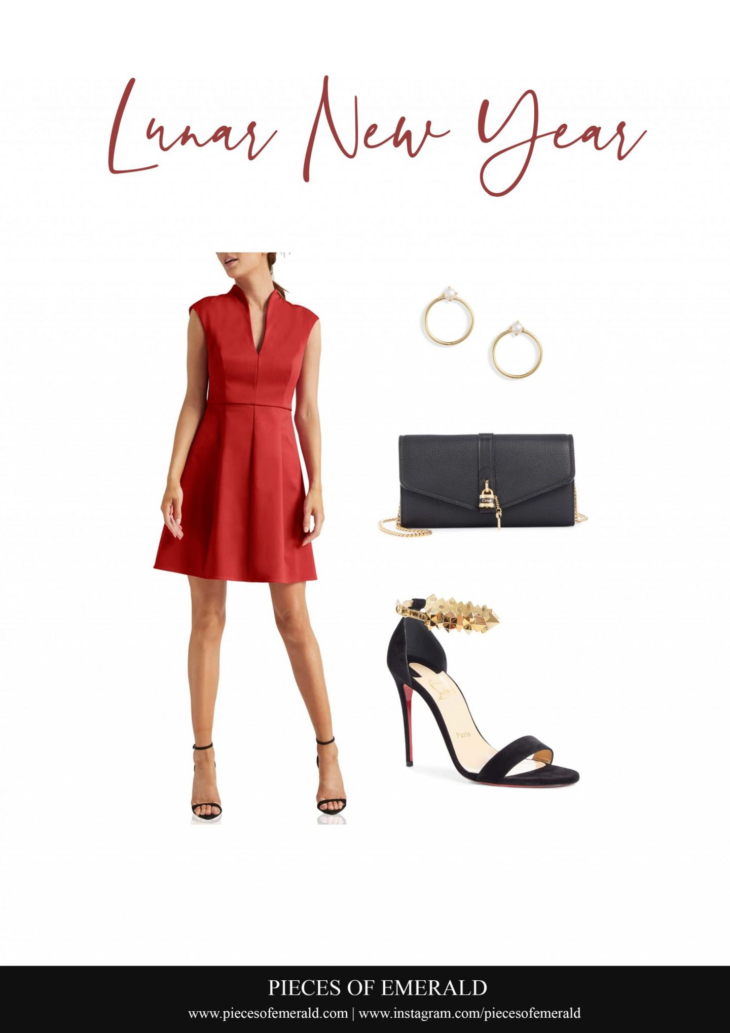 red midi dress for lunar new year