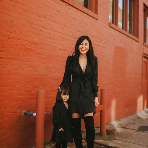 mommy and me all black outfit