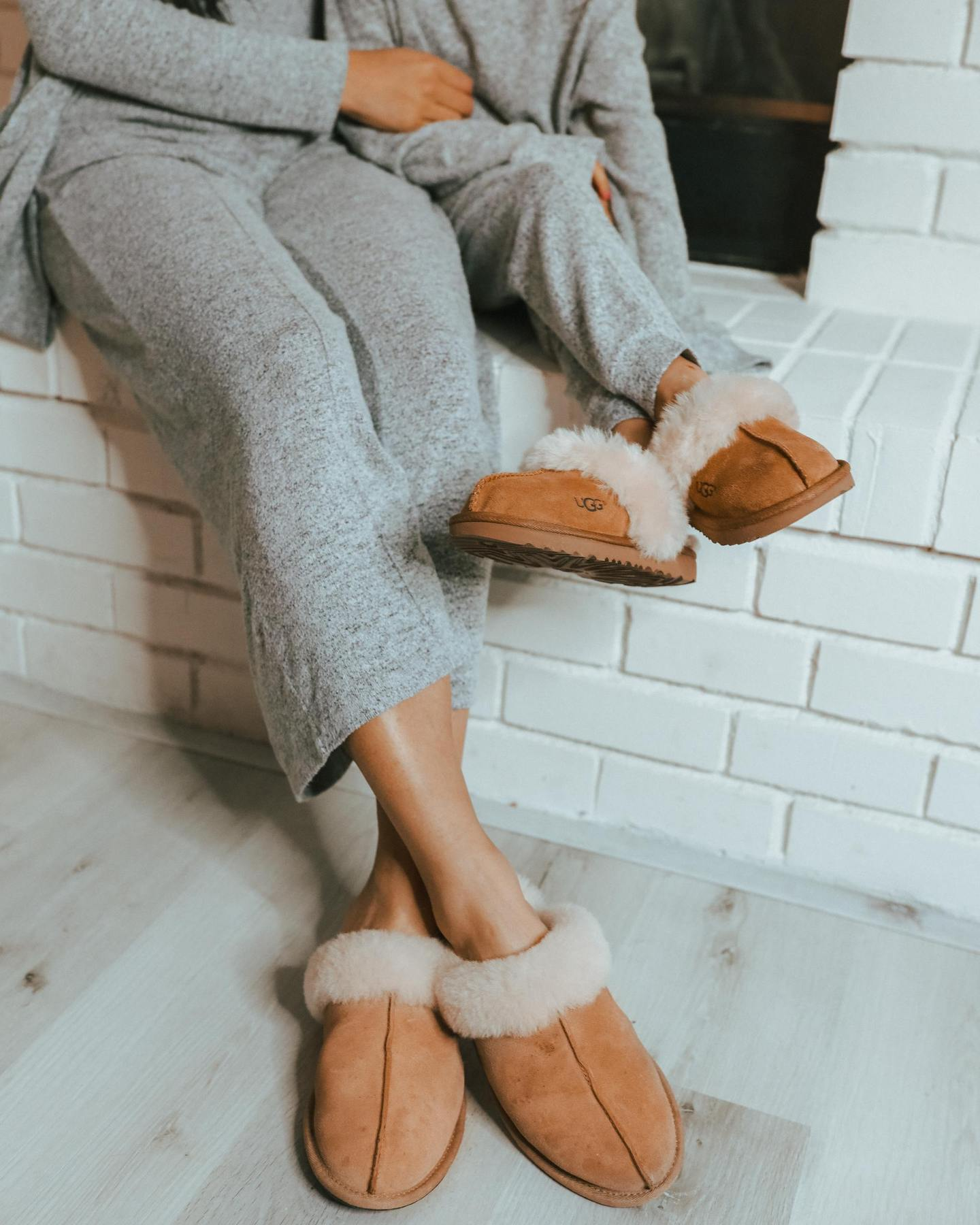 winter cozy ugg slippers